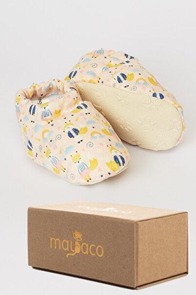 mayaco Patili Kaydırmaz Taban Bebek Patiği - Sevimli Sincap - Pembe
