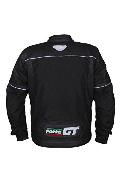 Forte GT Erkek Siyah Street Deri Ve Condura Motosiklet Montu Yeni Sezon 1071
