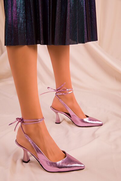 SOHO Lila Kadın Klasik Topuklu Ayakkabı 15776