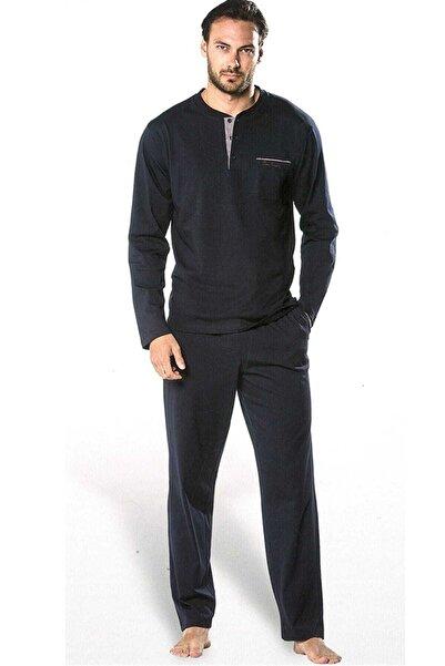 Pierre Cardin Erkek Lacivert Uzun Kollu Pijama Takımı