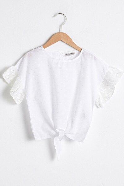 LC Waikiki Kız Çocuk Beyaz Bluz