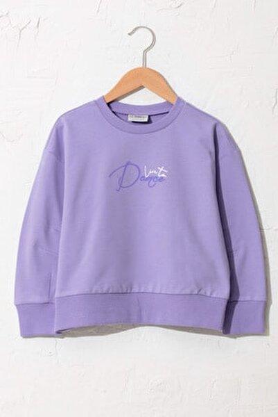 Kız Çocuk Koyu Lila Fkw Sweatshirt