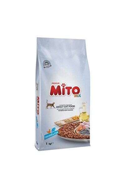 Mito Mix Adult Cat Tavuklu Ve Balıklı Renkli Taneli Kedi Maması 1 Kg Kapalı Paket