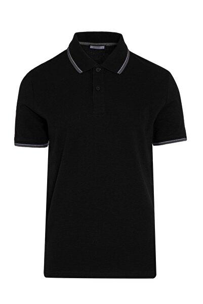 Hatemoğlu Siyah Baskılı Polo Yaka Tişört