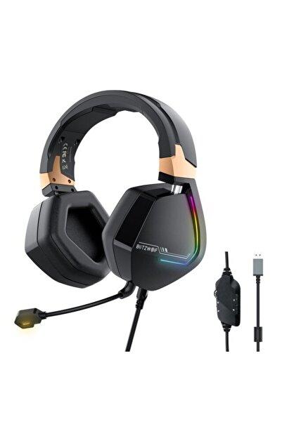 BlitzWolf ® Bw-gh2 Gaming Headphone 7.1 Channel 53mm Driver Usb Wired Rgb Gamer Kulaklık