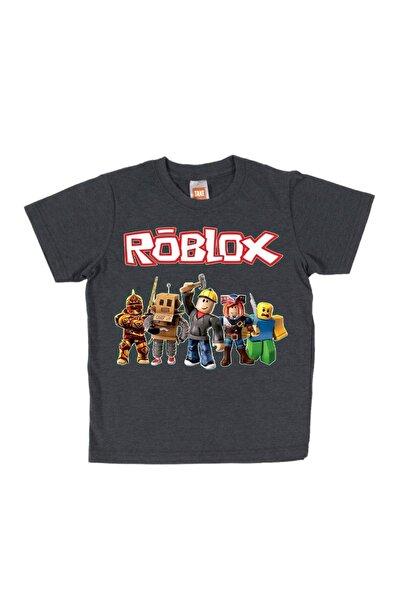 TakeTshirt Roblox Çocuk Tişört Koyu Gri Unisex