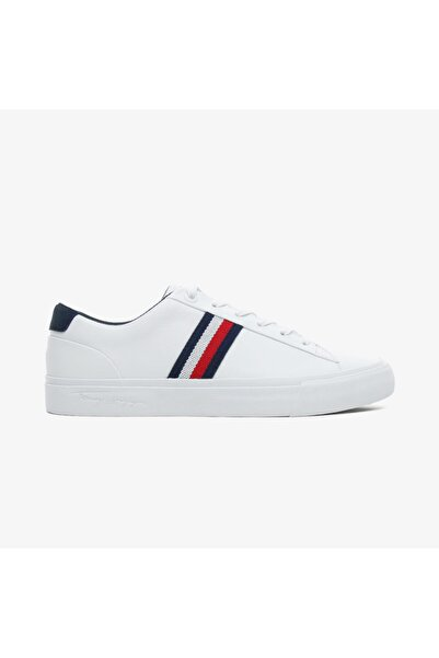 Tommy Hilfiger Erkek Beyaz Bağcıklı Sneaker