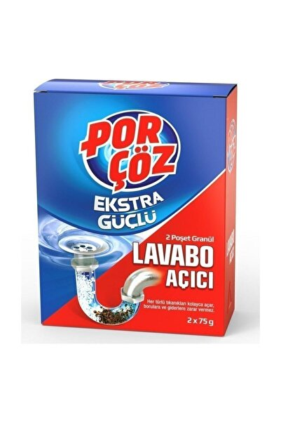 Porçöz Granul Lavabo Açıcı 2 Adet 75 gr