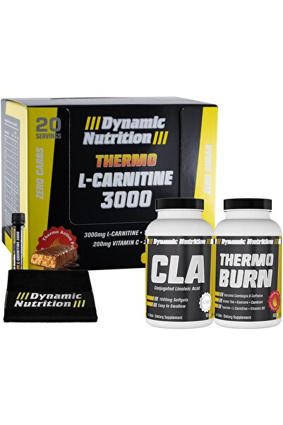 Dynamic Nutrition Dynamic Thermo L-Carnitine 3000 mg 20 Ampul + CLA 90 Kapsül + Thermo Burn 60 Tablet + 3 HEDİYE