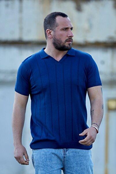 Karpefingo Erkek Ince Cizgili Polo Yaka Tshirt