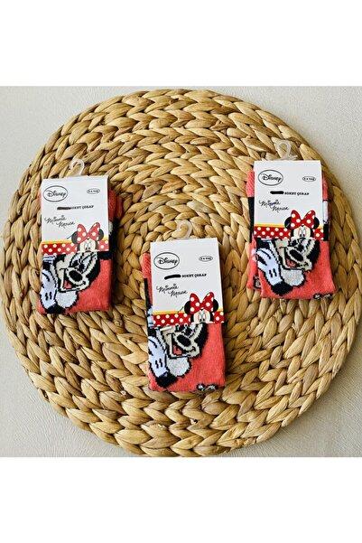 DISNEY Kız Çocuk Siyah Figürlü Çorap 3 Çift