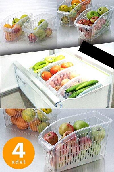 Evkonomi 4 Adet Buzdolabı Dolap Içi Düzenleyici Organizer Şeffaf