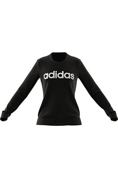 adidas Kadın Siyah Beyaz W Lın Ft  Spor Sweatshirt