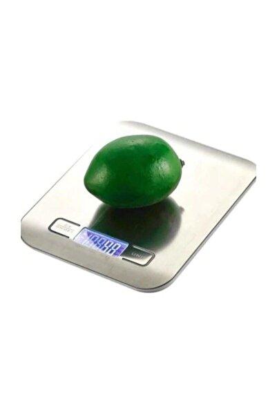 MASTEK Platin Mutfak Terazisi Dijital Tartısı Hassas Lcd Ekranlı 5 kg Zd-3
