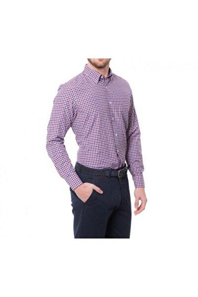Karaca Erkek Bordo Regular Fit Casual Gömlek