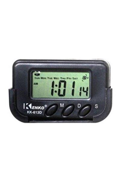 Kenko Siyah Kronometre Dijital Alarmlı Masa Ve Araba Saati Kk613d