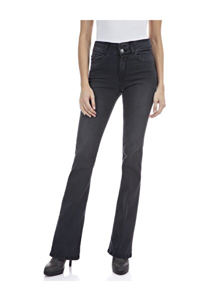 Replay Kadın Koyu Gri Streç Denim Pantolon
