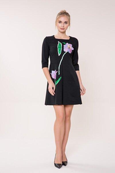 GIZIA CASUAL Kadın Siyah Mini Elbise