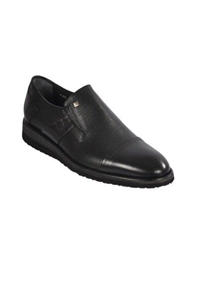 Fosco Erkek Siyah  Klasik Hakiki Deri Ayakkabı