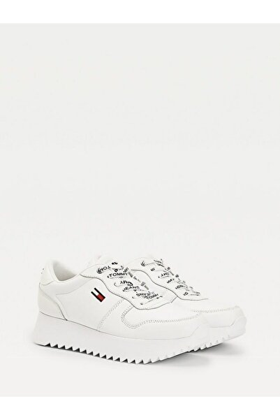 Tommy Hilfiger Hıgh Cleated Deri Sneaker