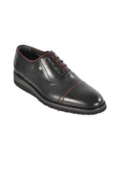 Fosco Erkek Siyah Klasik Hakiki Deri Ayakkabı 1550