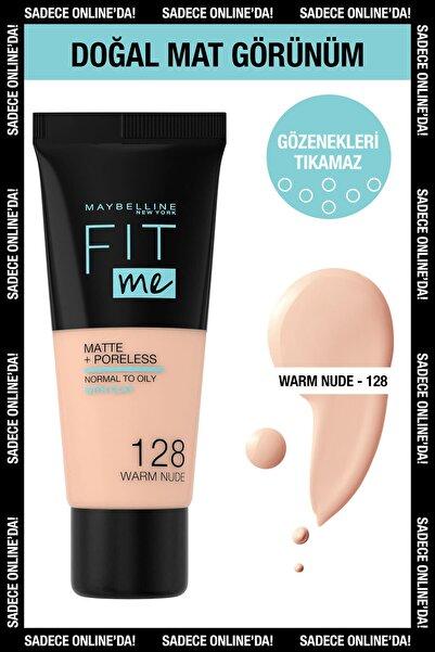 Maybelline New York Fit Me Matte+poreless Fondöten - 128 Warm Nude