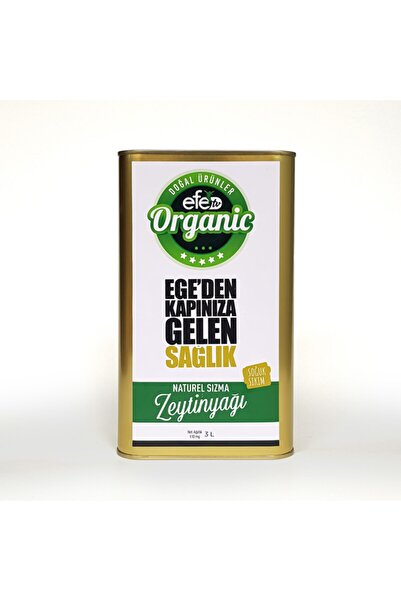Efe Organik Efe Doğal Soğuk Sıkım Sızma Zeytin Yağı 3 Litre