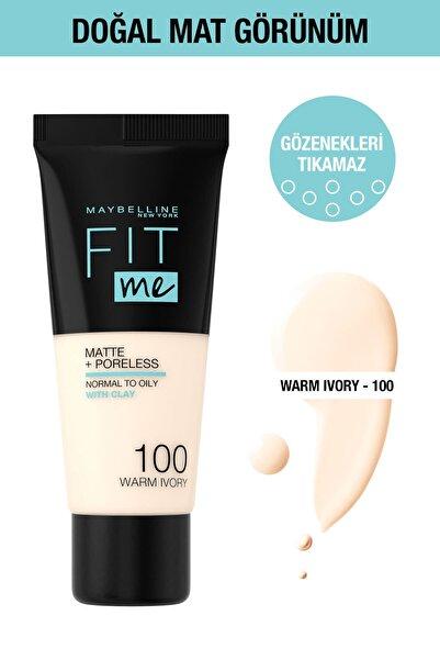 Maybelline New York Fit Me Matte + Poreless Fondöten 100 Warm Ivory