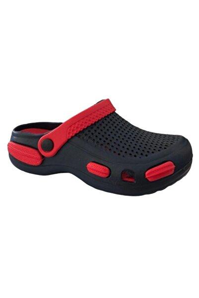 Akınal Bella E087 Lacivert/kırmızı Erkek Hastane Sabo Terlik Sandalet