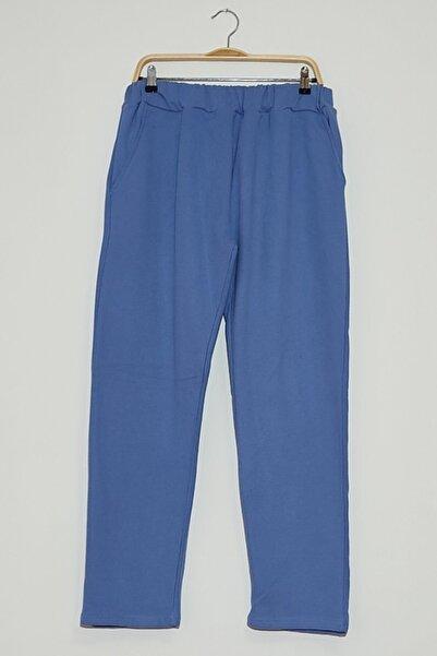 Karin Kadın Mavi Cepli Normal Paça Pantalon