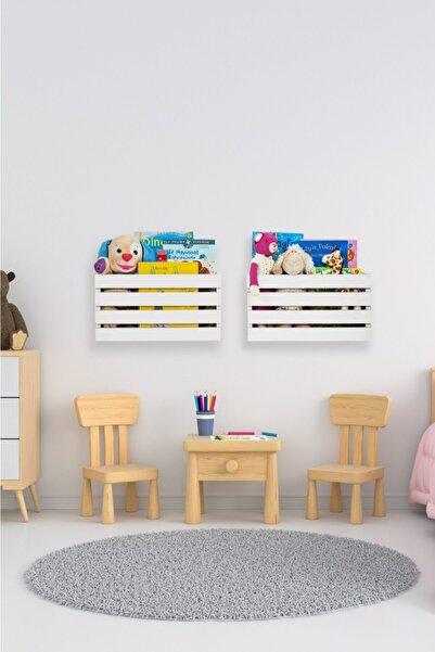 Ankaflex Duvara Monte Çocuk Odası Montessori Bebek Oyuncak Dolabı Sepeti Saklama Kutusu 2'li
