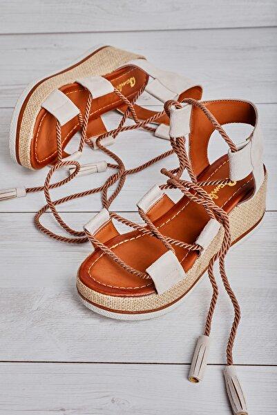 Bambi Bej Kadın Sandalet L0578450065