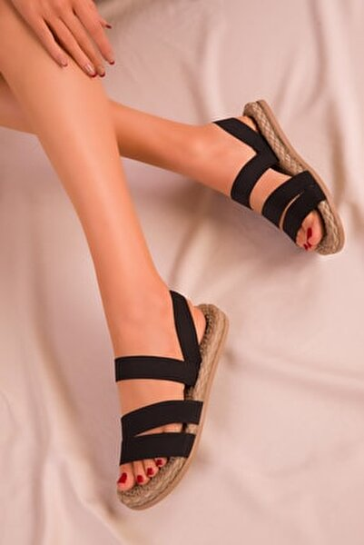 Siyah Kadın Sandalet 15098