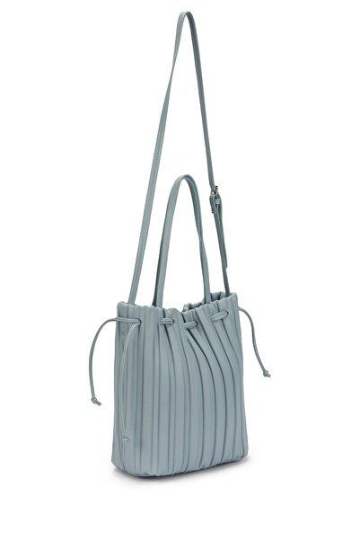 Twist Kadın Mavi Büzgü Detaylı Çanta TS1210052055089