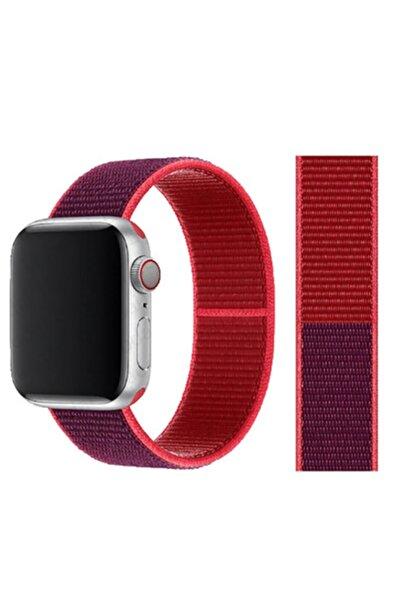 zore Apple Watch 44mm 2 3 4 5 Ve 6 Nesil Uyumlu Bükülmelere Karşı Dayanıklı Şık Hasır Kordon
