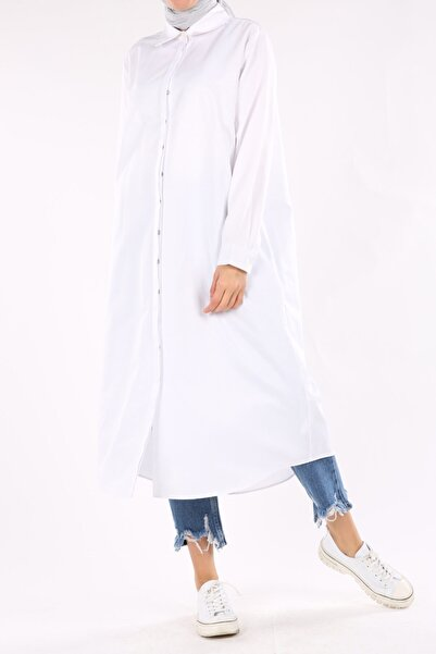 ALLDAY Beyaz Büyük Beden Gömlek Tunik