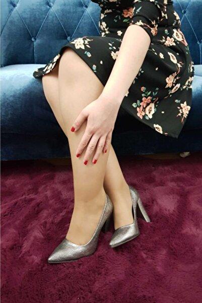 TREND Kadın Platin Topuklu Ayakkabı Ox04