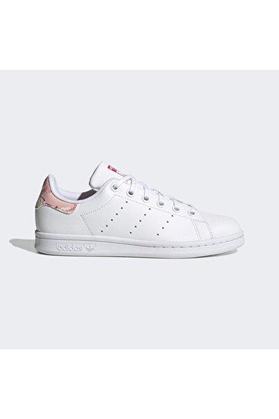 adidas Kız Çocuk Beyaz Pembe Stan Smith Ayakkabı