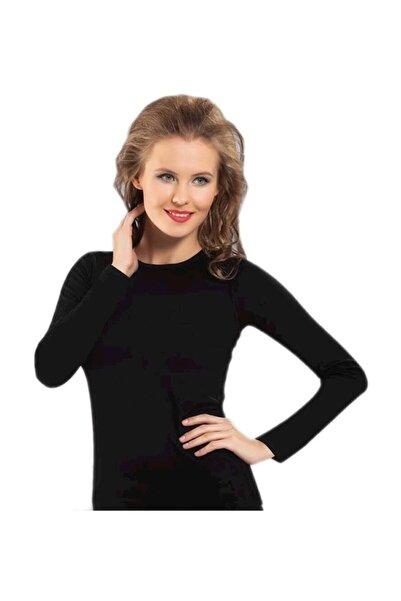 Namaldı Namaldi 271 Gerçek Termal Içlik Kadın Uzun Kol Body - - Termal O Yaka Uzun Kol - Siyah