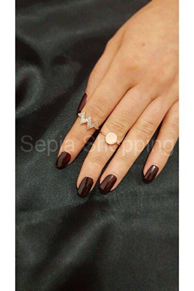 Sepia Shopping Kadın Zirkon Taşlı Eklem Yüzüğü