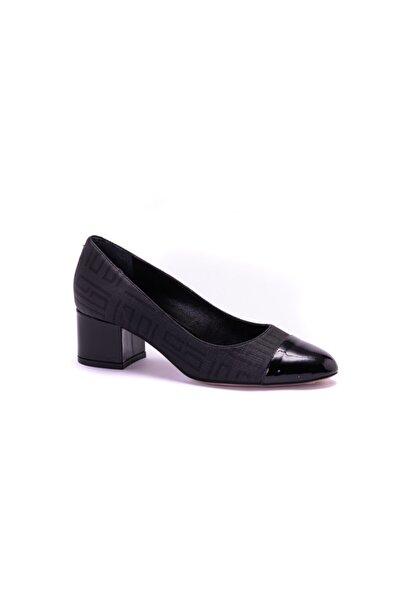 Silver Polo Kadın Siyah Topuklu Ayakkabı
