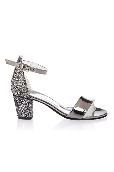 Papuccum Ortopedi Kız Çocuk Gümüş Simli Ayakkabı