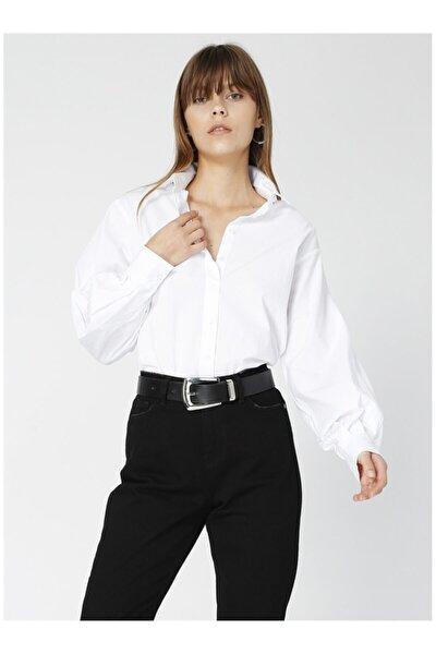 Fabrika Kadın Beyaz Uzun Kollu Gömlek