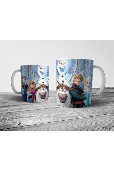 Pixxa Model 4 Frozen Karlar Ülkesi (Elsa, Anna, Olaf) Kupa Bardak