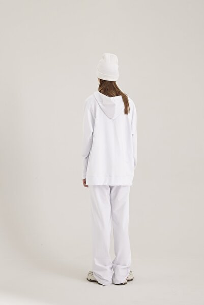 Kuaybe Gider Kadın Beyaz Hoodie 130011020