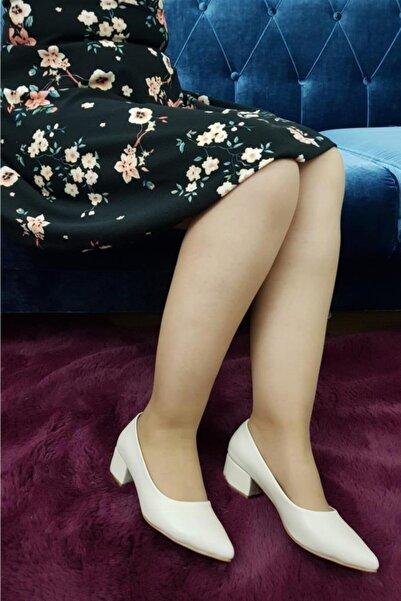 TREND Kadın Bej Topuklu Ayakkabı Ox20