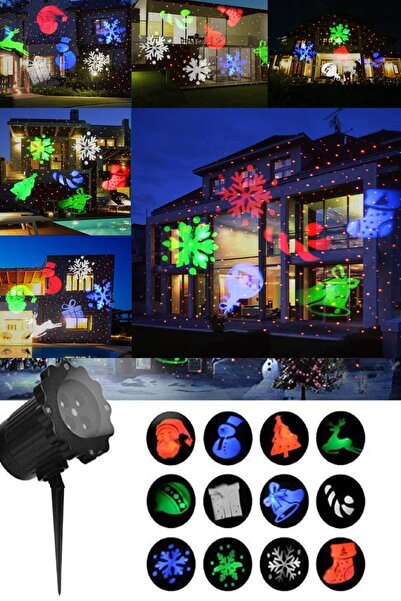 Mobee Lazer Projektör Festival Projeksiyon Lambası Dış Mekan Aydınlatma Parti Işığı 1410