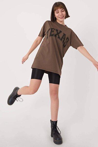 Addax Yazı Detaylı T-shirt P9513 - I8