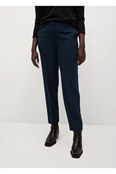 Kadın Yeşil Dar Kesimli Takım Pantolon
