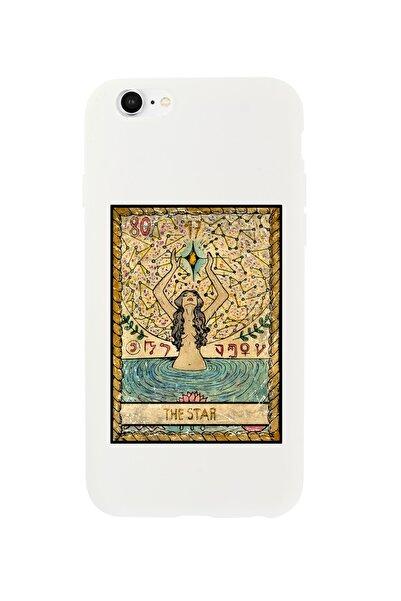 mooodcase Iphone 6 Plus Uyumlu The Star Premium Beyaz Lansman Silikonlu Kılıf